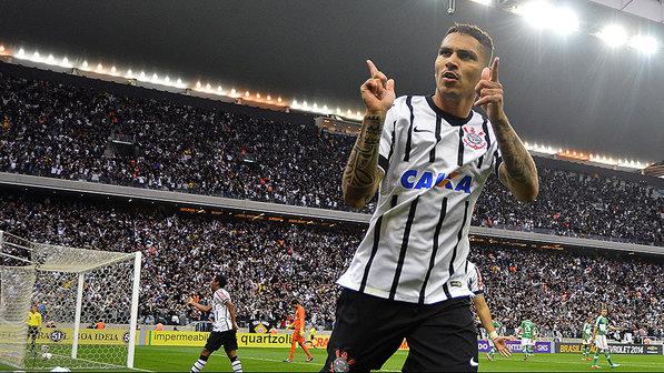 Guerrero tem 39 gols em 105 jogos com a camisa do Timão