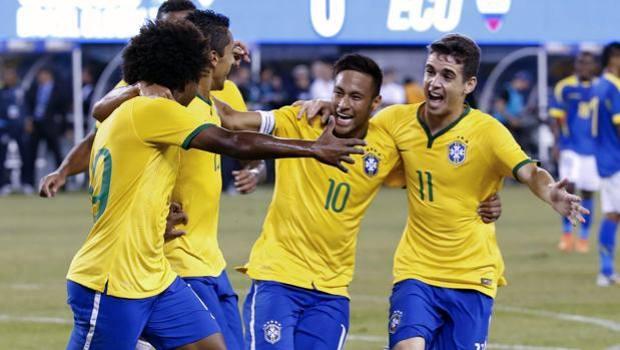 Willian, Tardelli, Oscar e Neymar: o novo quarteto de Dunga