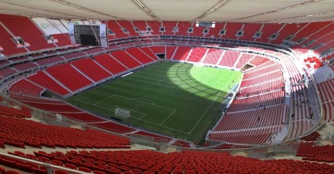 Um dos mais caros da Copa, o estádio Mané Garrincha ainda não recebeu jogos oficiais em 2015