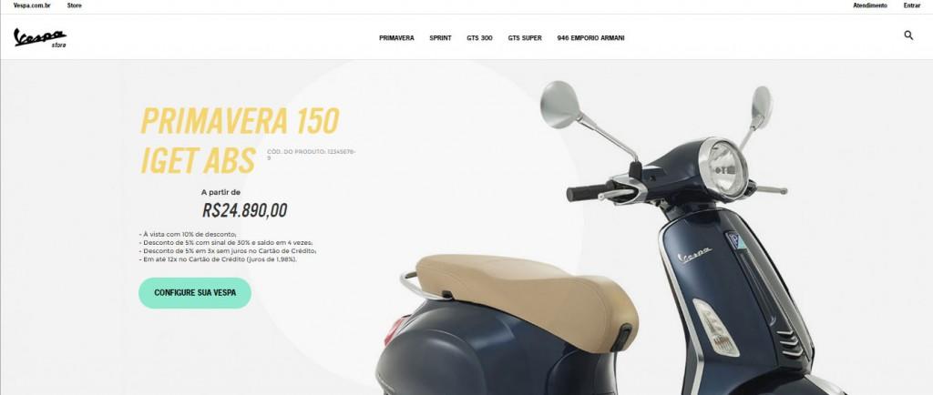 Vespa Brasil online