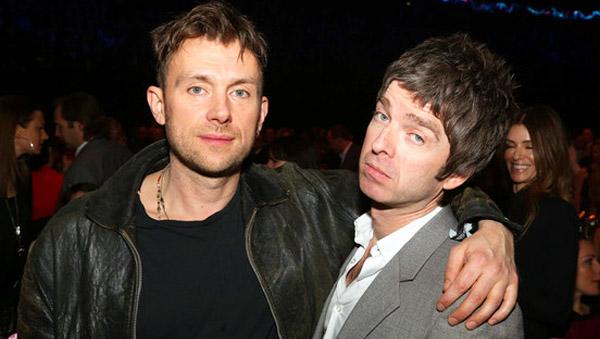Toma essa, Liam: Noel e Damon Albarn estão trabalhando juntos