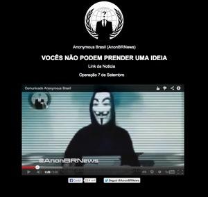 Hackers invadem site do PMDB e deixam mensagem sobre 7 de setembro