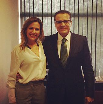 Luisa Mell reúne-se com o presidente da Câmara, Henrique Eduardo Alves - Foto: Reprodução/Instagram