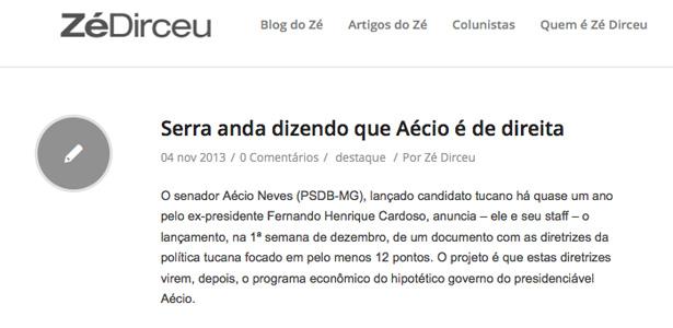 Reprodução do blog do José Dirceu