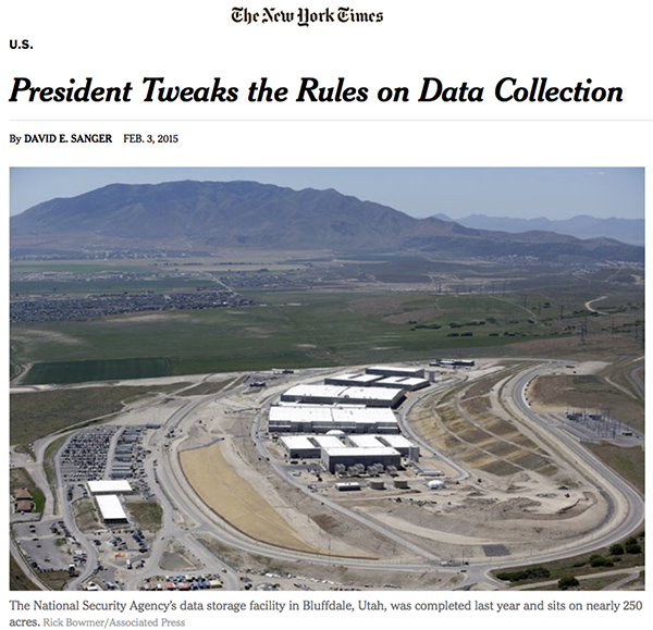 """""""NYT"""" cita caso brasileiro em reportagem sobre coleta de dados pela NSA / Reprodução"""