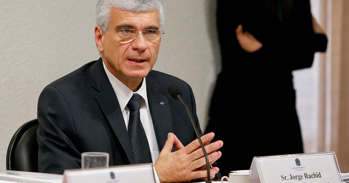 Jorge Rachid, secretário da Receita Federal, em audiência na CPI do HSBC no Seando