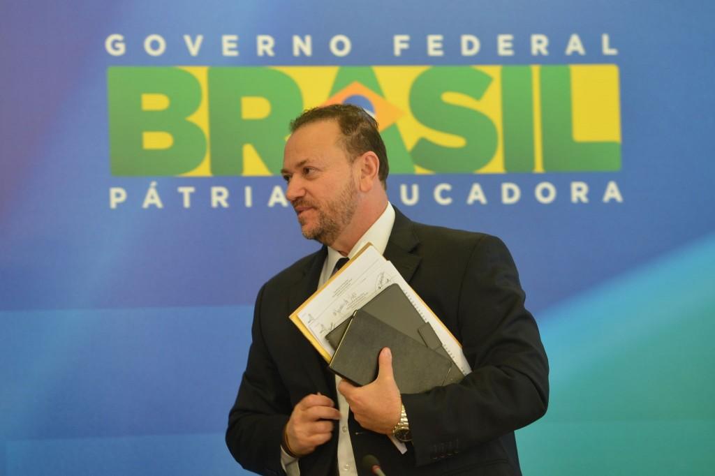 O ministro da Comunicação Social, Edinho Silva, em coletiva após reunião da presidenta Dilma (Elza Fiúza/Agência Brasil)