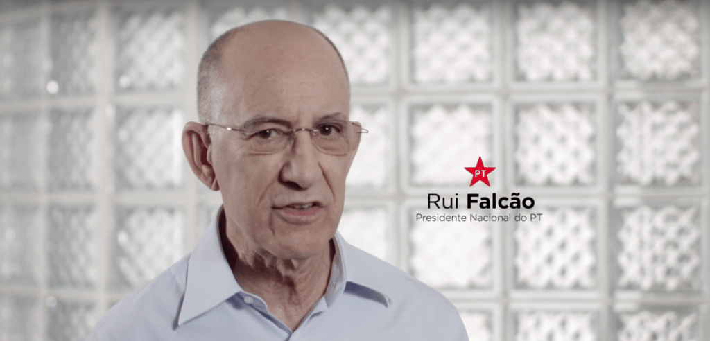 O presidente do PT, Rui Falcão
