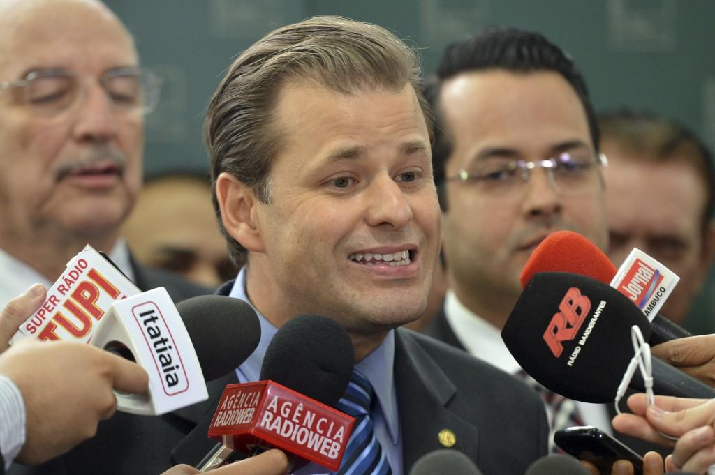 Brasília - Entrevista coletiva do novo líder do PMDB na Câmara dos Deputados,Leonardo Quintão (Antonio Cruz/Agência Brasil)