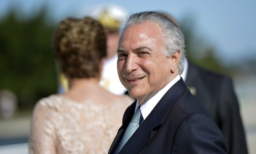 01/01/2015 – Brasilia,DF – O vice-presidente Michel Temer durante cerimônia de posse no Palácio do Planalto. Foto: Marcelo Camargo/ Agência Brasil