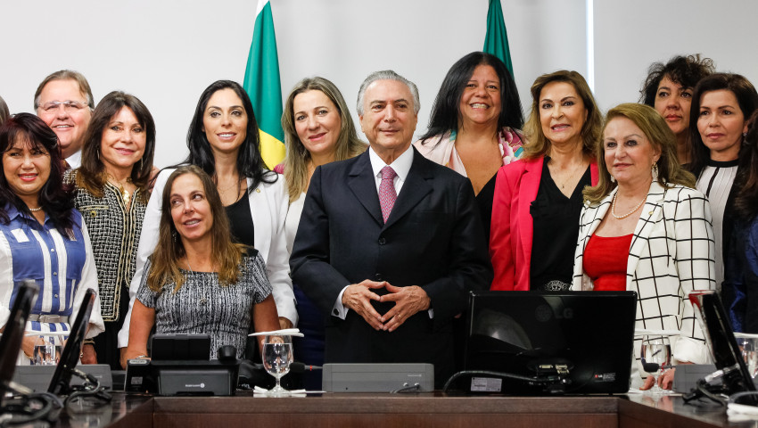 Brasília - DF, 19/05/2016. Presidente Interino Michel Temer durante reunião com a Bancada Feminina da Câmara dos Deputados. Foto: Beto Barata/PR