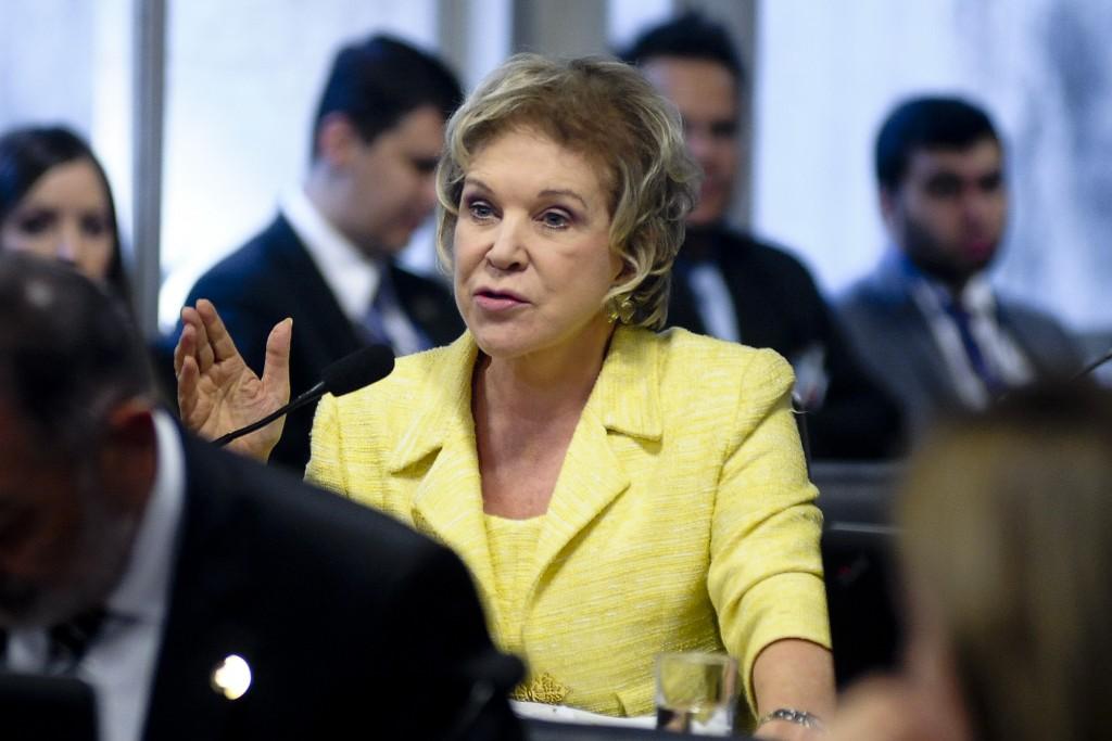 Comissão Especial do Impeachment 2016 (CEI2016) realiza reunião para ouvir testemunhas de acusação. Em pronunciamento, senadora Marta Suplicy (PMDB-SP) Foto: Pedro França/Agência Senado