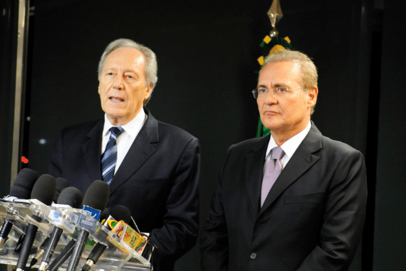 Presidentes do Senando, Renan Calheiros, e do STF, Ricardo Lewandwski