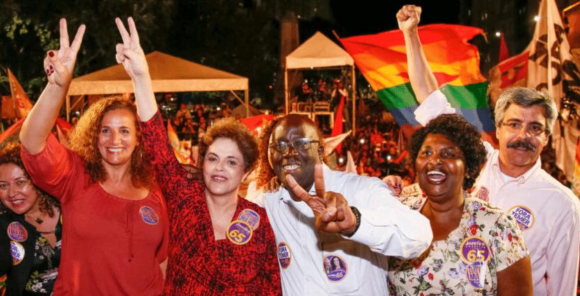 Ex-presidente Dilma participa de evento no Rio de Janeiro