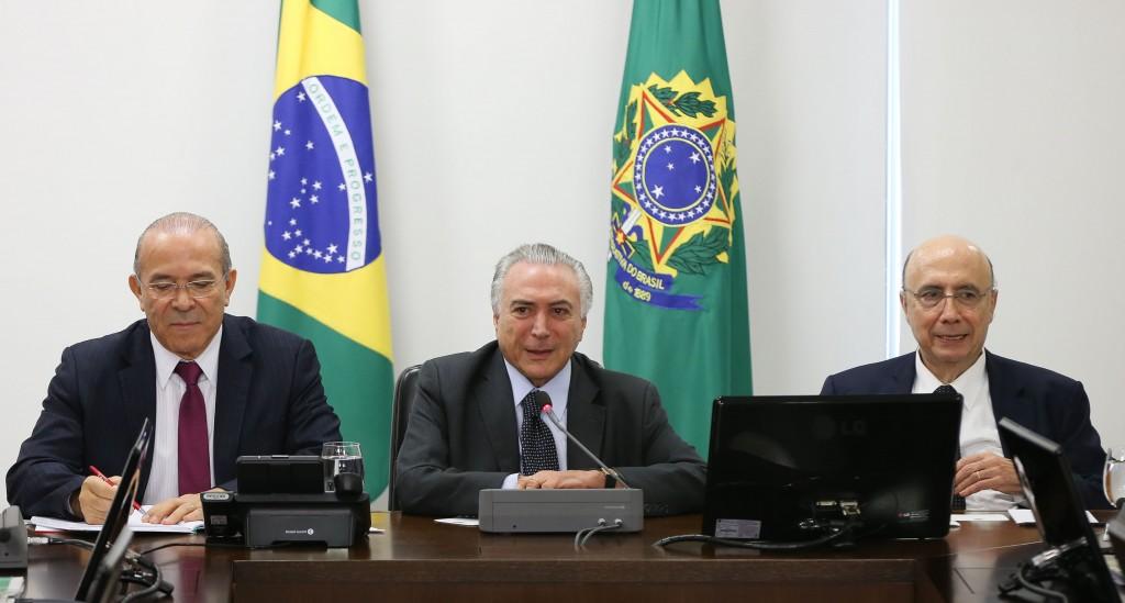 Brasília- DF 22-06-2016   Presidente interino, Michel Temer, durante  Reunião com Ministros da Área Econômica Palácio do Planalto. Foto Lula Marques/Agência PT