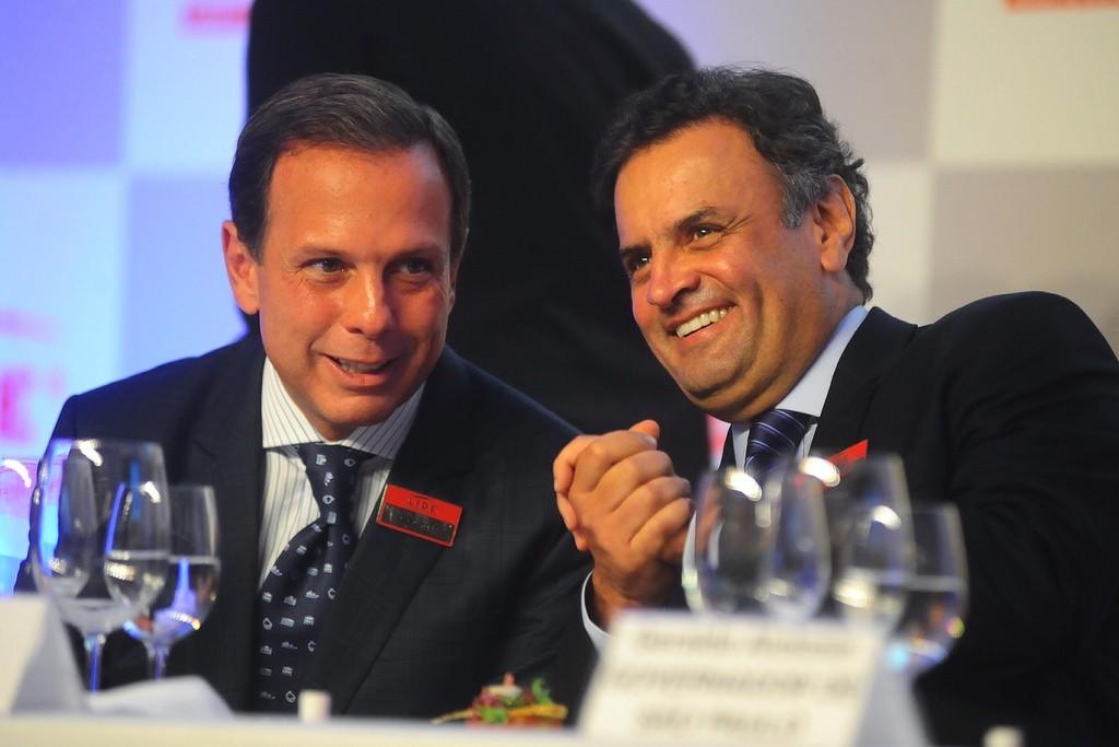 João Doria, prefeito eleito de São Paulo, e Aécio Neves, presidente do PSDB
