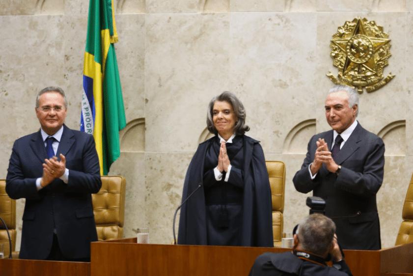 Renan Calheiros, Cármen Lúcia e Michel Temer