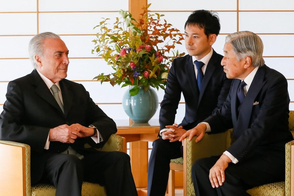 Tóquio - Japão, 19/10/2016. Presidente Michel Temer durante encontro com Sua Majestade o Imperador Akihito. Foto: Beto Barata/PR