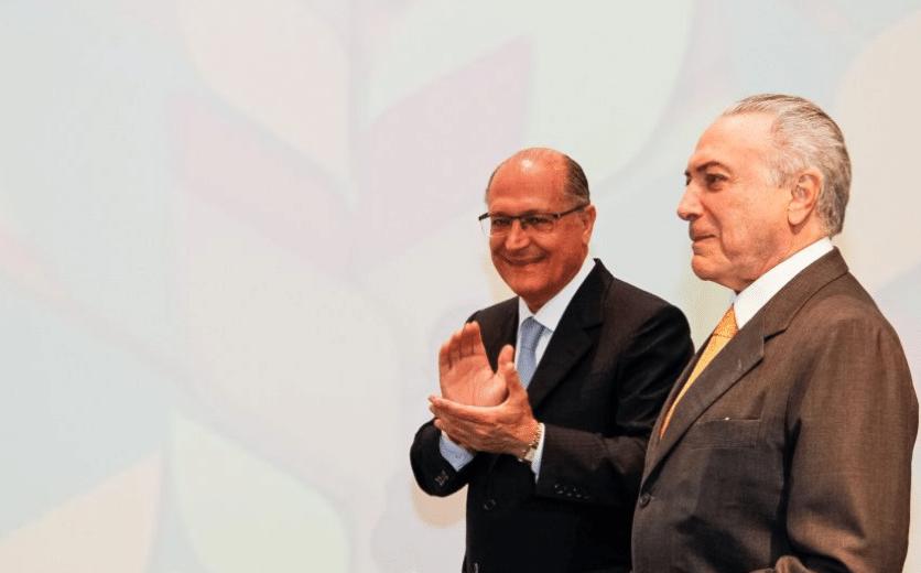 O governador de São Paulo, Geraldo Alckmin (PSDB), e o presidente Michel Temer (PMDB)