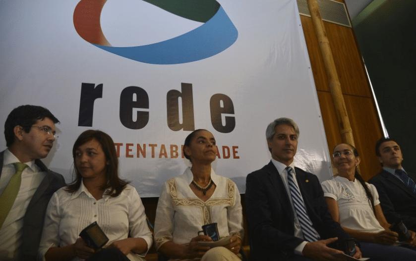Membros da Rede durante apresentação de novos filiados ao partido no Congresso (08.out.2015)