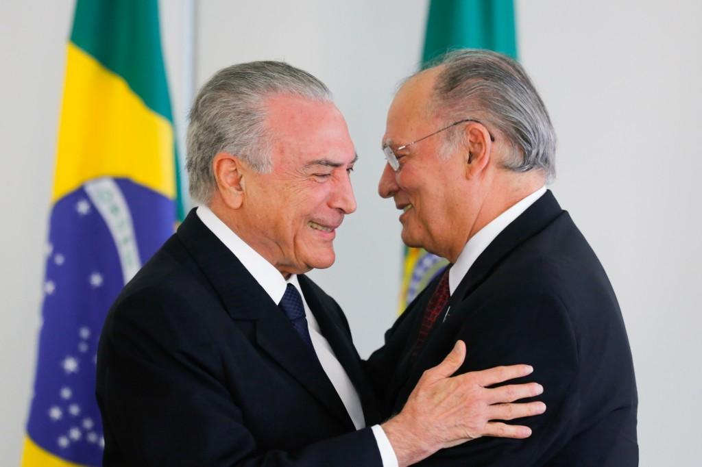 Presidente Michel Temer na cerimônia de posse do novo ministro da Cultura, Roberto Freire, no Palácio do Planalto. Brasilia, 23-11-2016. (Foto: Sérgio Lima/Poder 360).