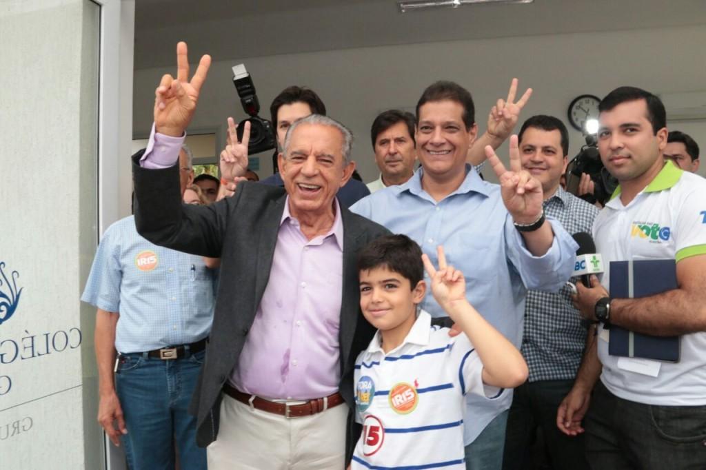 Em Goiânia, ex-governador Iris Rezende (PMDB) desbancou candidata apoiada pelo atual prefeito