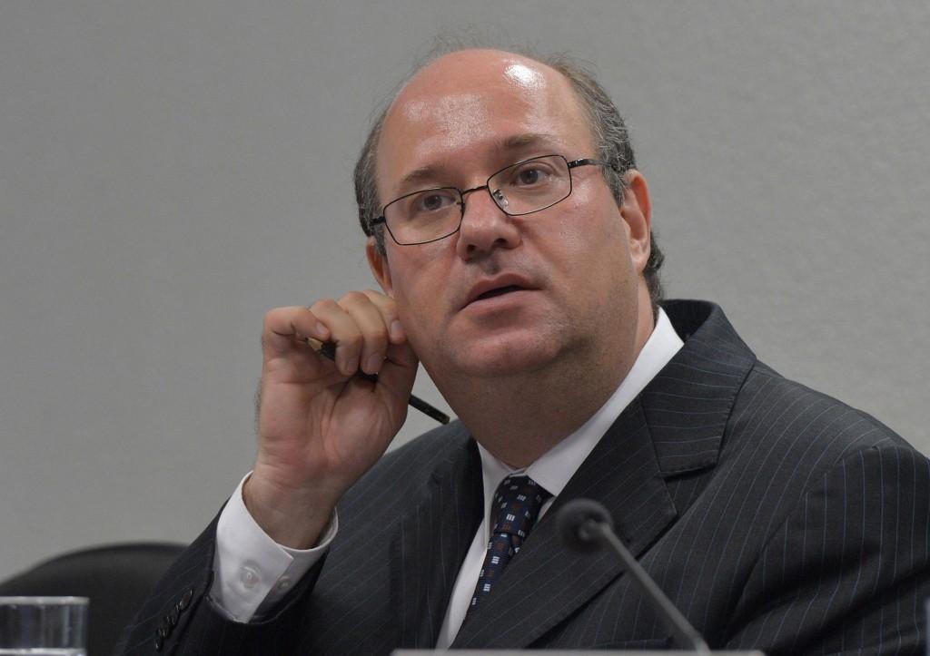 O presidente do BC, Ilan Goldfajn, ao ser sabatinado no Senado, em maio