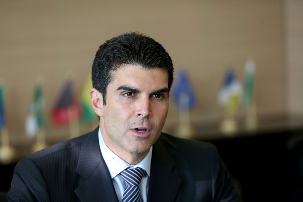 Brasília - Ministro da Integração Nacional, Helder Barbalho, fala à imprensa (Wilson Dias/Agência Brasil)