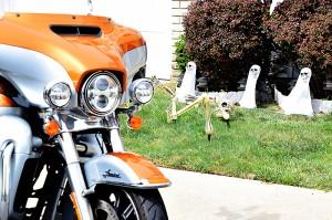 Com a Harley-Davidson Ultra Electra Glide em Nova York.