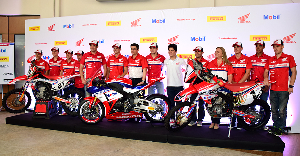 Equipes oficiais da Honda, de Motocross, Motovelocidade, Rally e Enduro, para a temporada 2015