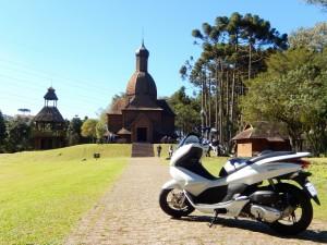 Passeando com a Honda PCX em Curitiba