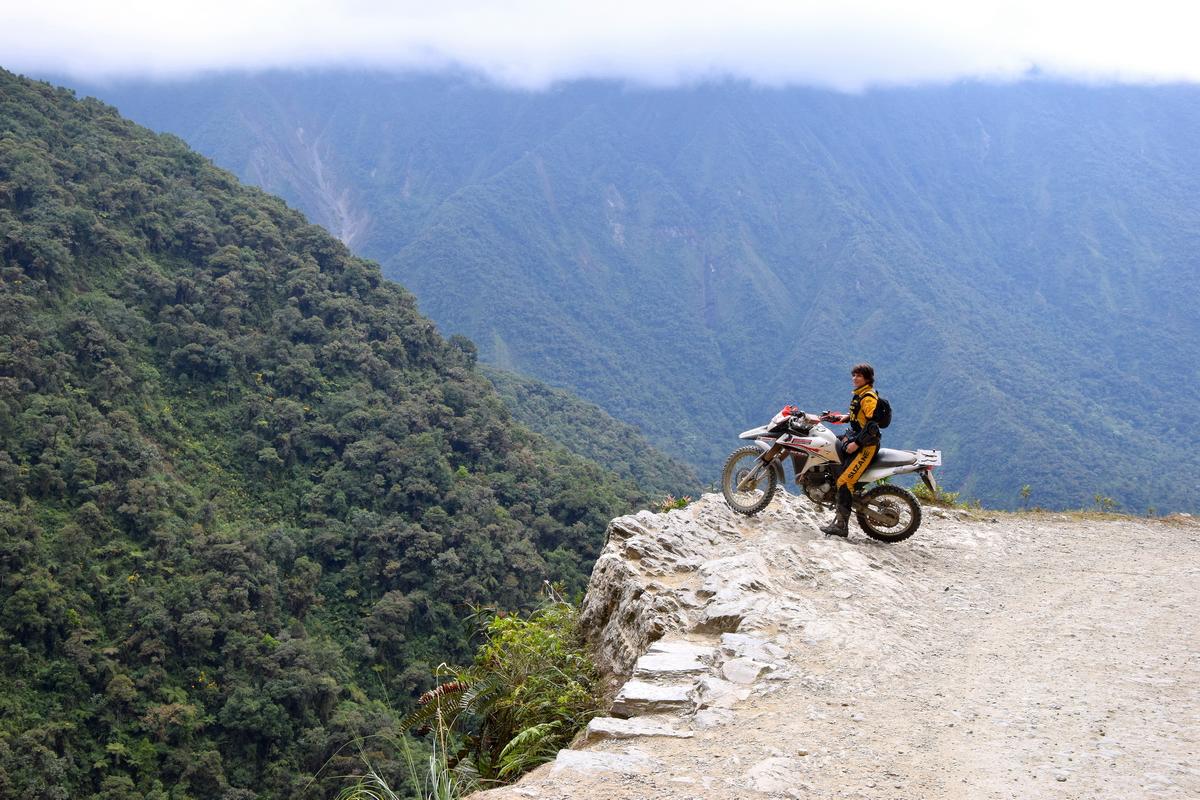 Aventura de Moto de Porto Velho a La Paz pela Estrada da Morte, na Bolívia.