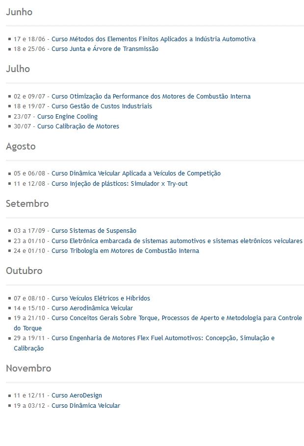 SAE Brasil - cursos 2016 - 3