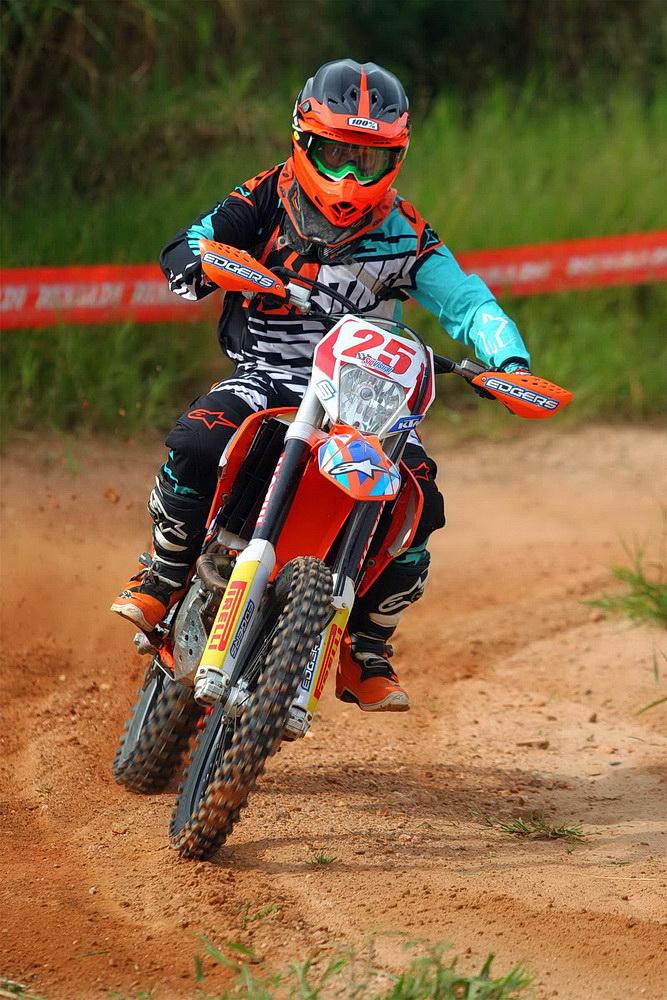 Cauê Aguiar, vencedor da categoria E2 na primeira etapa da Copa EFX Brasil Foto: Maurício Arruda/PubliX