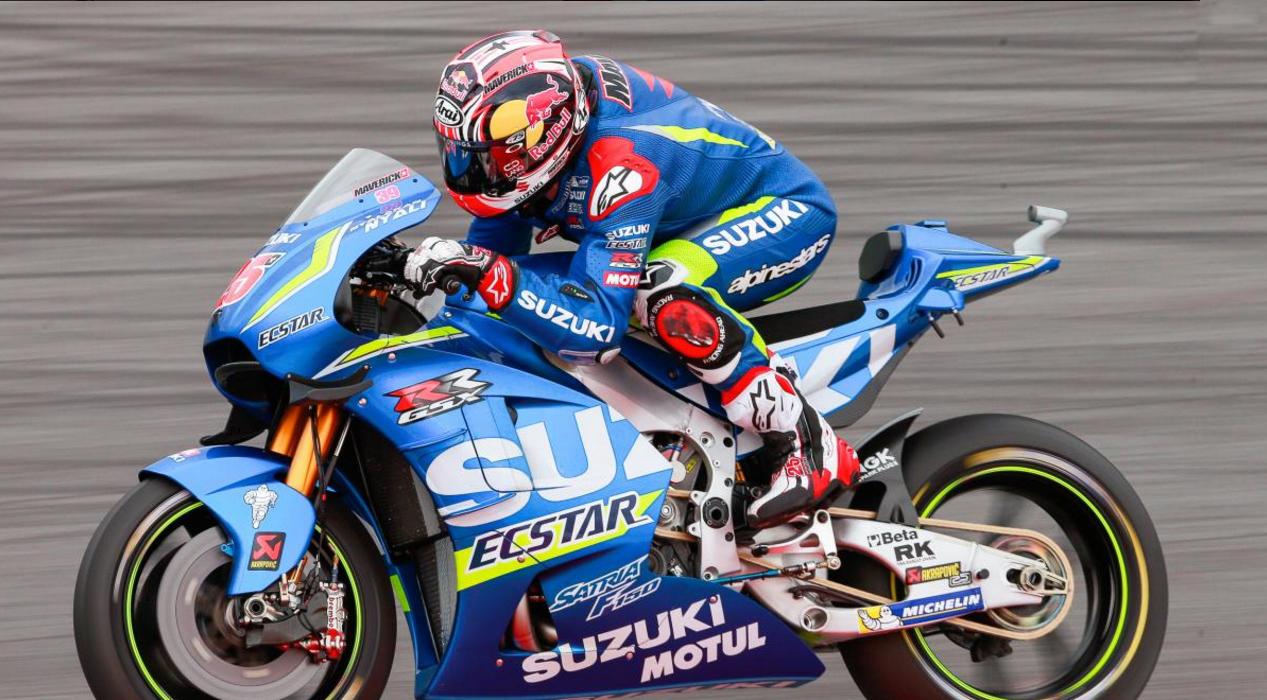 Maverick Viñales está em lugar no campeonato, com a Suzuki