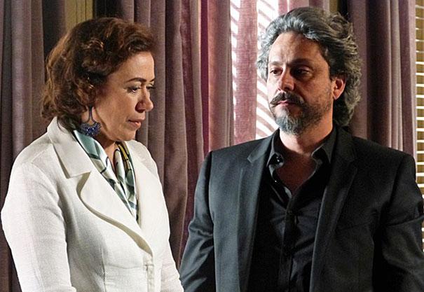 Lília Cabral (Maria Marta) e Alexandre Nero (José Alfredo) (Foto: Divulgação/TV Globo)