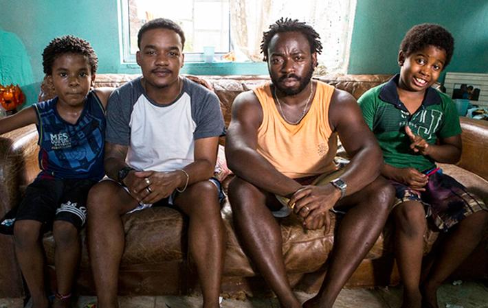 Luan Pessoa, Darlan Cunha, Douglas Silva e Carlos Eduardo Jay (Foto: Ellen Soares/TV Globo)