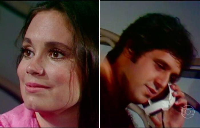 """Regina Duarte e Antônio Fagundes em """"Despedida de Casado"""" (Foto: reprodução)"""