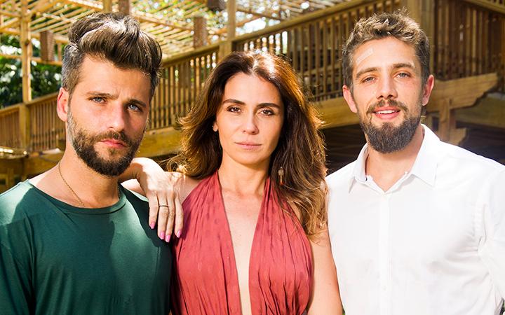 Bruno Gagliasso, Giovanna Antonelli e Rafael Cardoso (Foto: João Miguel Jr./TV Globo)