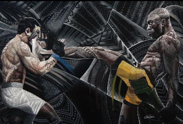 Nocaute de Anderson sobre Belfort - aqui em arte de André Gorobetz - é um dos mais importantes da história do UFC