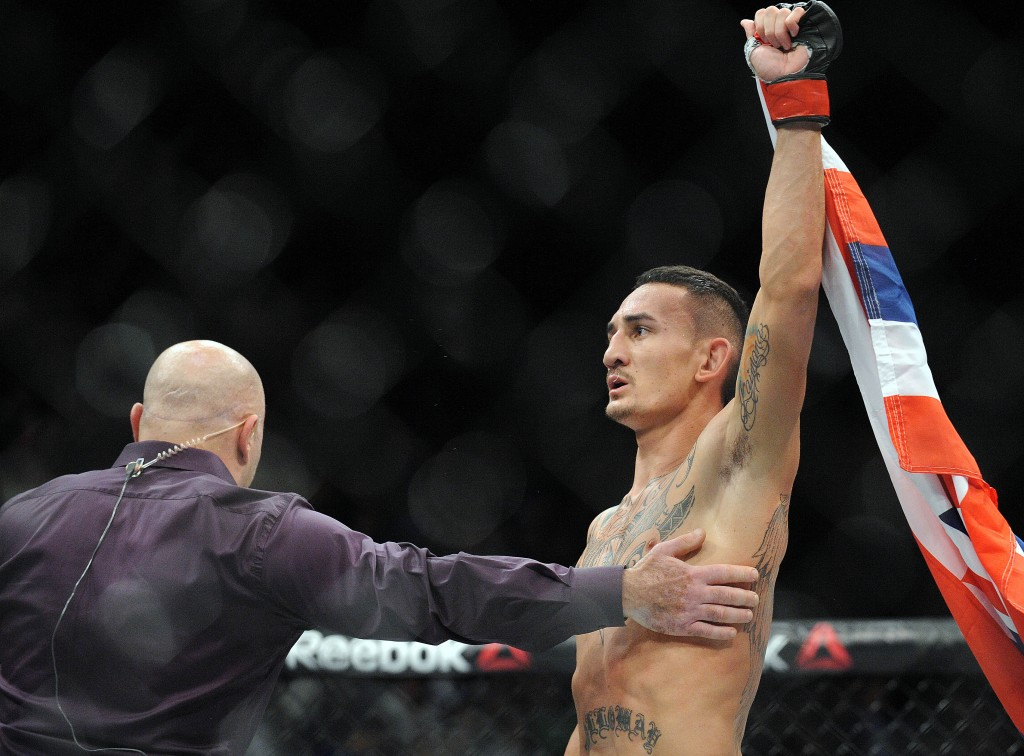 Max Holloway está com nove vitórias seguidas no UFC | Crédito: Gary A. Vasquez/USA TODAY Sports