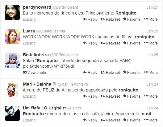 """Tuiteiros comentam sobre o """"Roniquito do BBB14"""""""