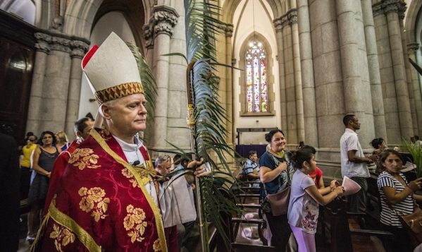 Odilo Scherer, cardeal arcebispo de São Paulo, na Catedral da Sé. Foto: Cris Faga/Estadão Conteúdo