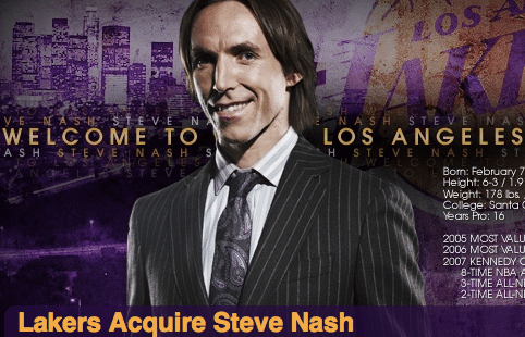 Steve Nash, do Lakers