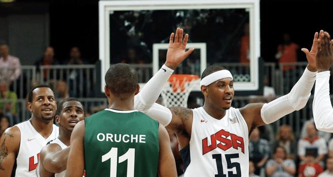 EUA humilham a Nigéria no basquete
