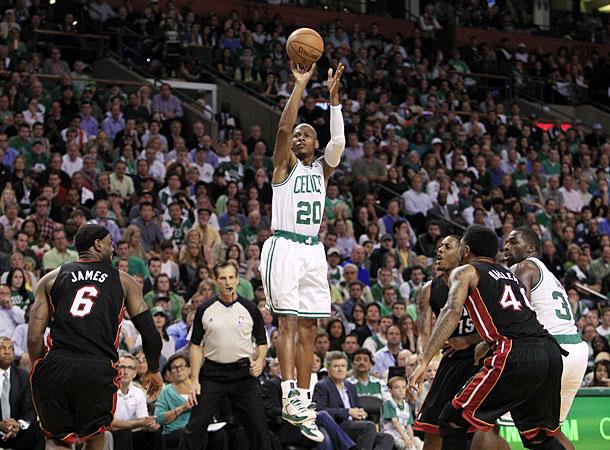 Ray Allen livre de três pontos, Miami Heat