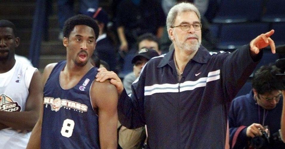 Phil Jackson e o afro de Kobe