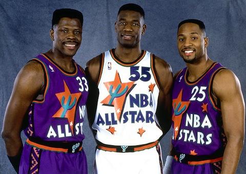 Os horrendos uniformes do All-Star de 95 em Phoenix