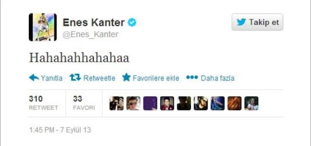 Hahahaha, Kanter