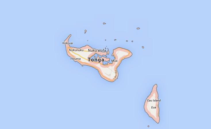 Isto é Tonga, no meio do Pacífico. Vamos todos?
